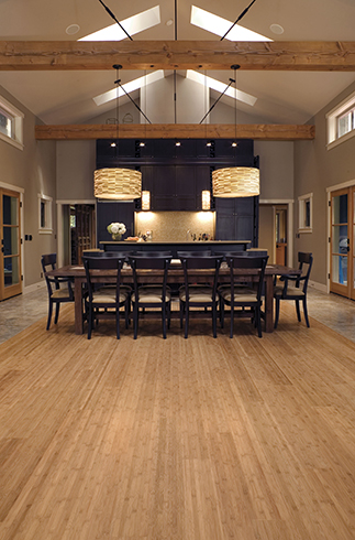 Bamboo Wood Flooring, Strand, Handscraped, Engineered Bamboo Flooring