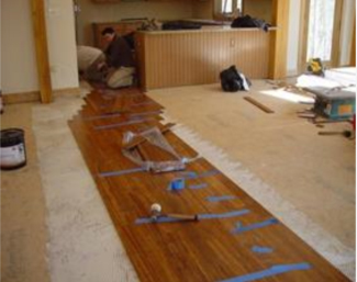 Bamboo flooring installation installing bamboo floors for Installing bamboo flooring
